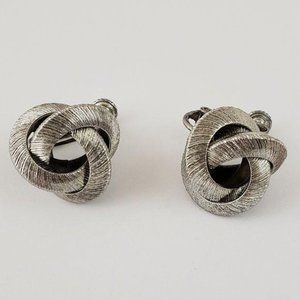 Vintage Miriam Haskell Love Knot Clip-On Earrings
